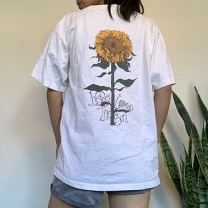 Vintage Here Comes the Sun Sunflower T-shirt
